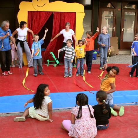 Feest bij de circusschool