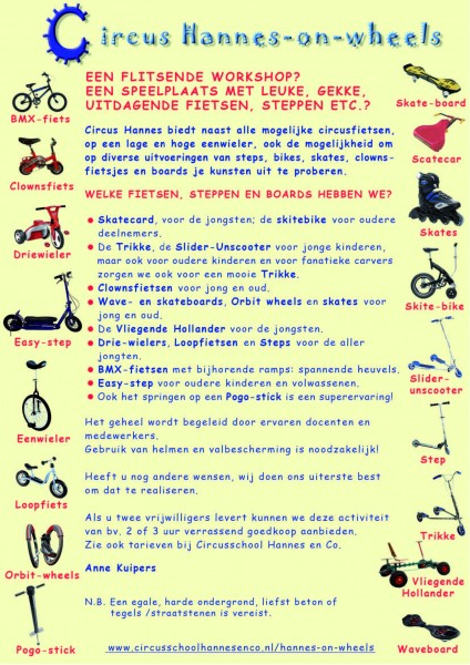 Hannes on Wheels afbeelding poster