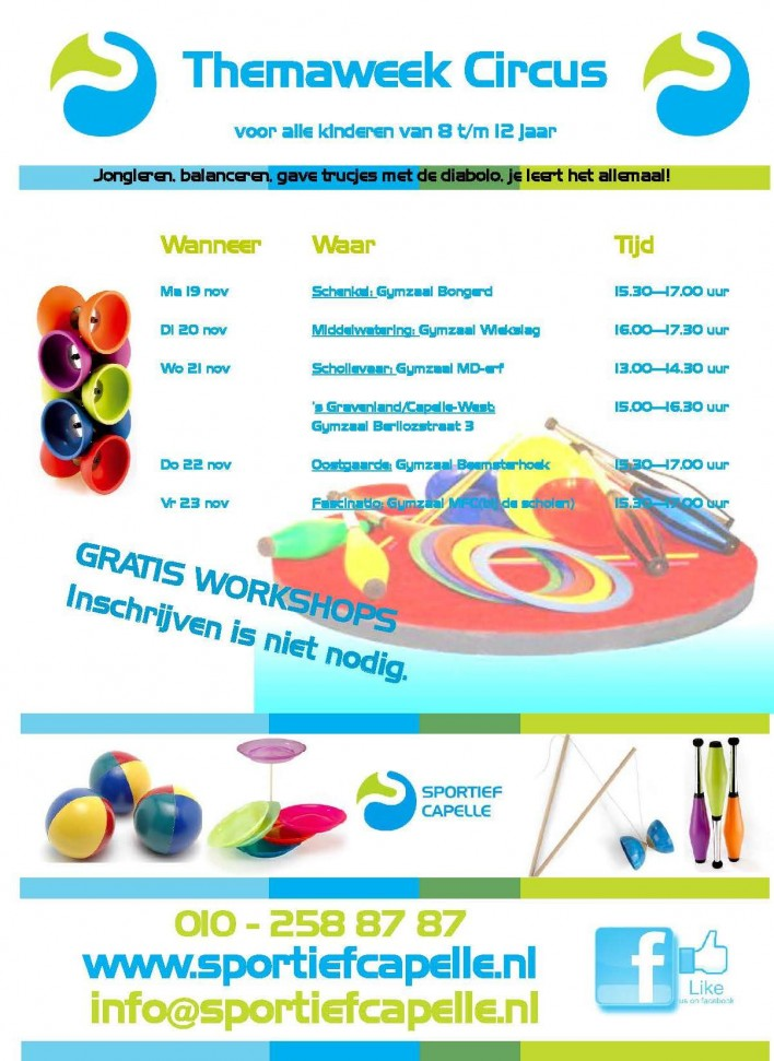 themaweek circus  sportief Capelle