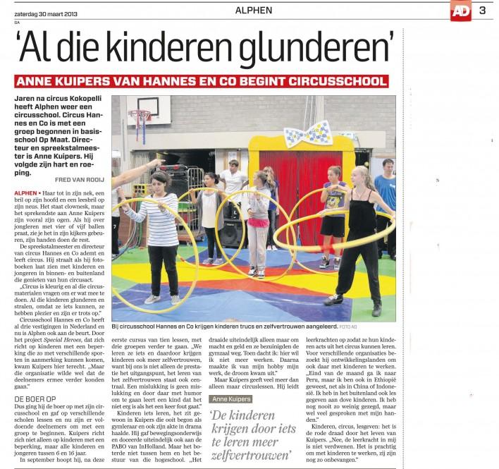 artikel AD Circus Alphen ad Rijn