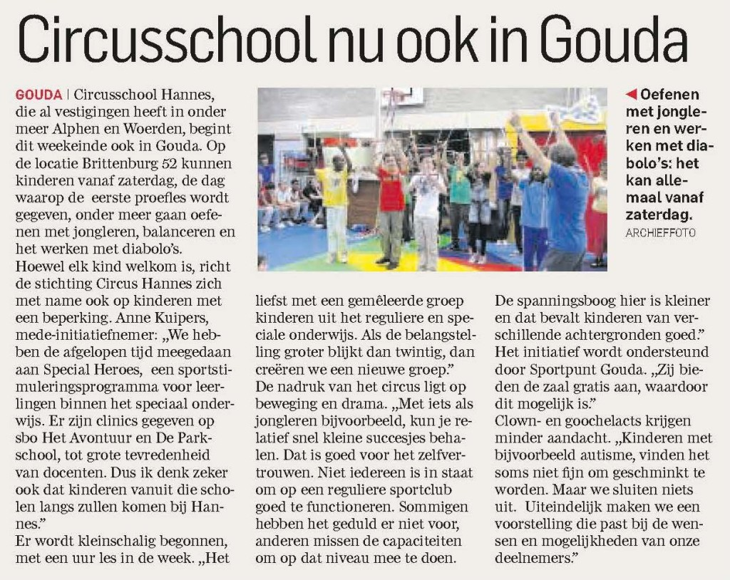 circus gouda nieuwsbericht