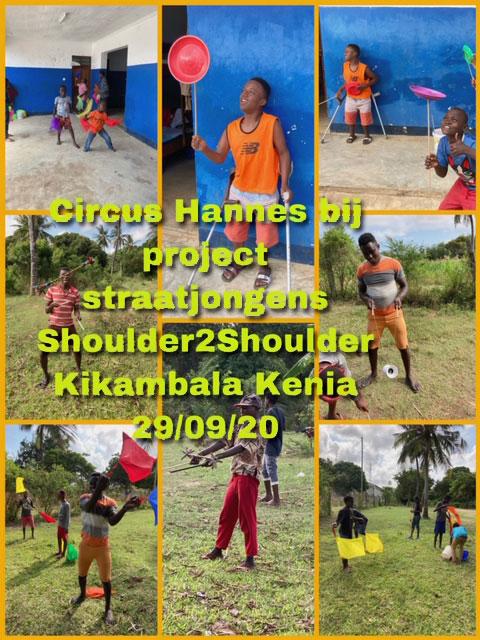 Overzichtsfoto Circus Hannes in Mombasa –  project samen met S2S – de jongens van Onesimus  – 29 september 2020