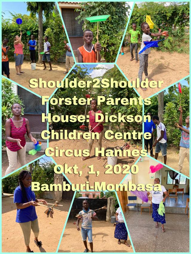 Overzichtsfoto Circus Hannes in Mombasa –  project samen met S2S – Foster Parents House: DCC – 1 oktober 2020